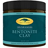 Bentonite Clay Mask for Natural Hair (16 oz) Bentonite Clay Powder - 100% All Natural Face Mask Detox, Skin Pore Cleansing and Rejuvenates Skin and Hair - Helps Acne Psoriasis and Eczema - Pure Sodium Bentonite from Wyoming