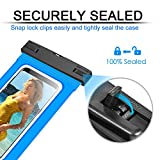 Waterproof Phone Case, Floating Phone Pouch Dry Bag Case with Armband for Sealine Boating Swimming for iPhone 7 7 Plus, 6 6S, 6S Plus, SE 5S, Galaxy Note 8, S7 Edge(Blue)