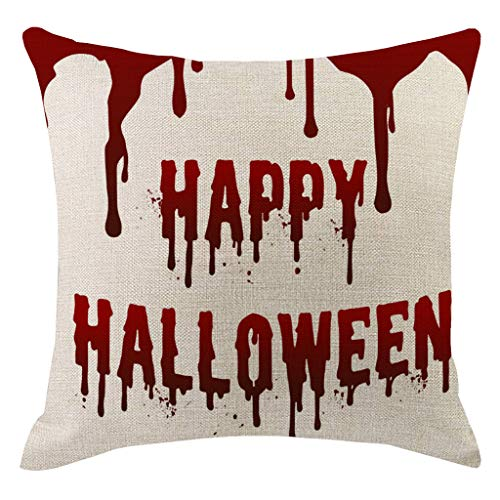 TOPBIGGER Thanksgiving Halloween Theme Pillow Covers Happy Halloween and Pumpkin Throw Pillow Case Daily Decorations…