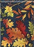"""Cheap """"Fall Foliage"""" Leaves, Berries, Acorns 28″x40″ Autumn House Flag"""