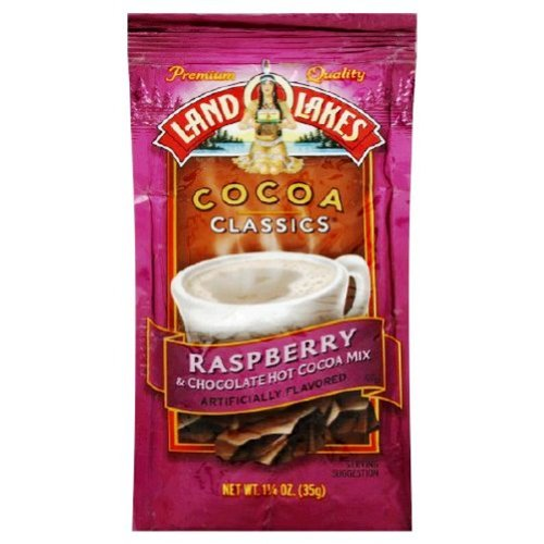 LAND O LAKES Cocoa Classics Chocolate and Raspberry, 1.25-Ounce Packages (Pack of 72) by Land O Lakes