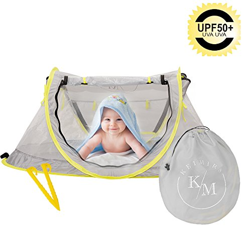 Baby Beach Tent,Pop up Tent for Infants,Beach Tent for Baby with UV Protection, UPF 50+, Lightweight, Portable Mosquito Net and Sun Shelter,Baby Travel Bed by Keimirs