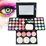 Vinmax Best Pro Eyeshadow Palette Makeup,Pro Warm Colors Matte Shimmer Eyeshadow Palette Makeup Kit Set + Brush Mirror M2
