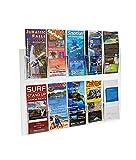 Source One 2 Piece Set Ten Pocket Wall Mount Premium Trifold Brochure Holder Menu Rack (10POC2PCSETWMTRI)