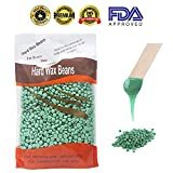 Hard wax hair removal, Hair Removal Hard Wax Beans for Man and Woman, Depilatory Pellet Waxing 300g/10oz (Green Tea), Best Seller Beauty