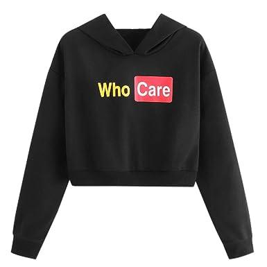 Sudadera Mujer Corta, K-Youth Who Care Sudaderas Cortas Mujer Crop ...