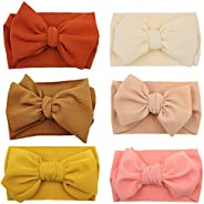 Steewarts Baby Girl Headbands and Bows Classic Knot Nylon Headwrap Nylon Hair Bands for Newborn Toddler, Child