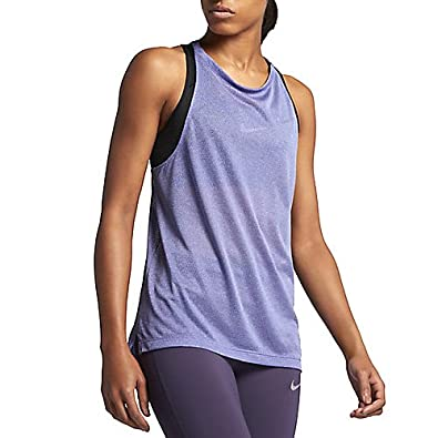 c0a5abc3dcc91 Image Unavailable. Image not available for. Color  Nike Breathe Women s  Cutout Back Running Tank Top (Dark ...