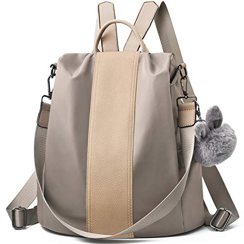 Charmore Women Backpack Purse Waterproof Nylon Schoolbags Anti-theft Rucksack Shoulder Bags ()