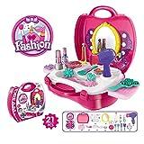 Makeup Set for Girls Pretend Play Dress up Toy Kit Beauty Salon Toys Make-up Box Best Gift for Little Girls