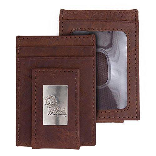 Eagles Wings Ole Miss Rebels Wallet Front Pocket Leather Wallet