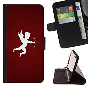 BullDog Case - FOR/Samsung Galaxy S4 IV I9500 / - / Design Cupid Arrow /- Monedero de cuero de la PU Llevar cubierta de la caja con el ID Credit Card Slots Flip funda de cuer