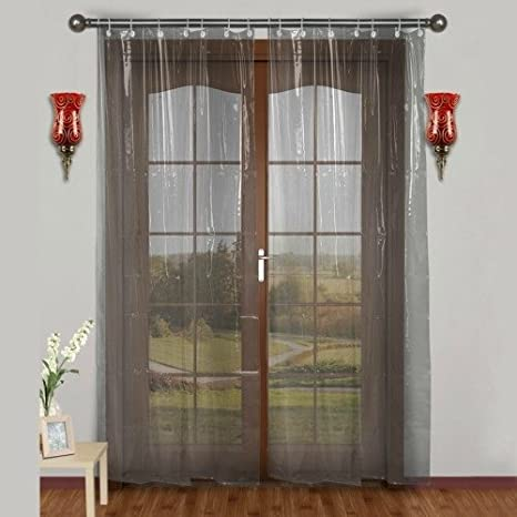 Lee Decor Pvc Ac Transparent Curtain Width 54 Inches Height 96