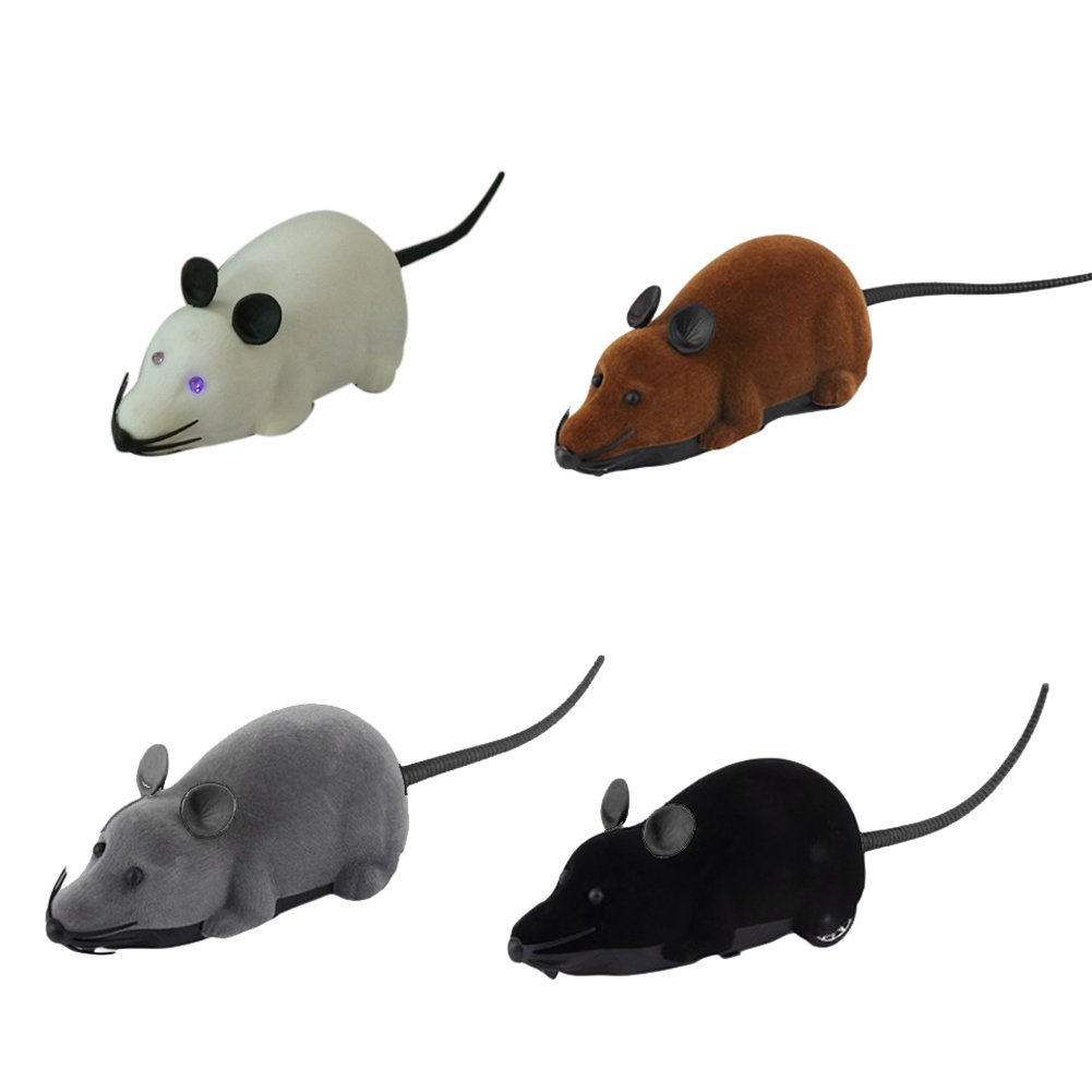 Jocestyle RC Wireless LED Mouse Remote Control Interactive Training Exercise Cat Chase Toys