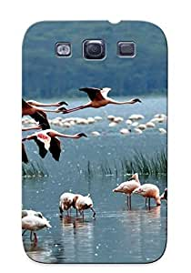 For HTC One M9 Case Cover (flamingo Animals Birds Color Flight Fly Wings Nature Lakes Water Grass Shore ) Gift For Christmas
