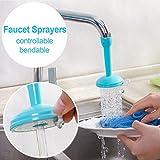 Harikrishnavilla Villa Water Saving Kitchen Adjustable Plastic Faucet Accessories Flexible Sink Tap Sprayer, 69 Oz (Blue, 1 water saving faucet)
