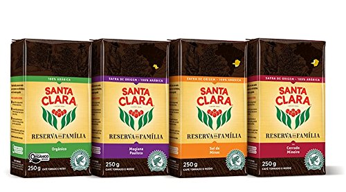 Santa Clara Coffee Reserva da Familia Brazilian Variety Pack, Ground, 250 Gram Bags
