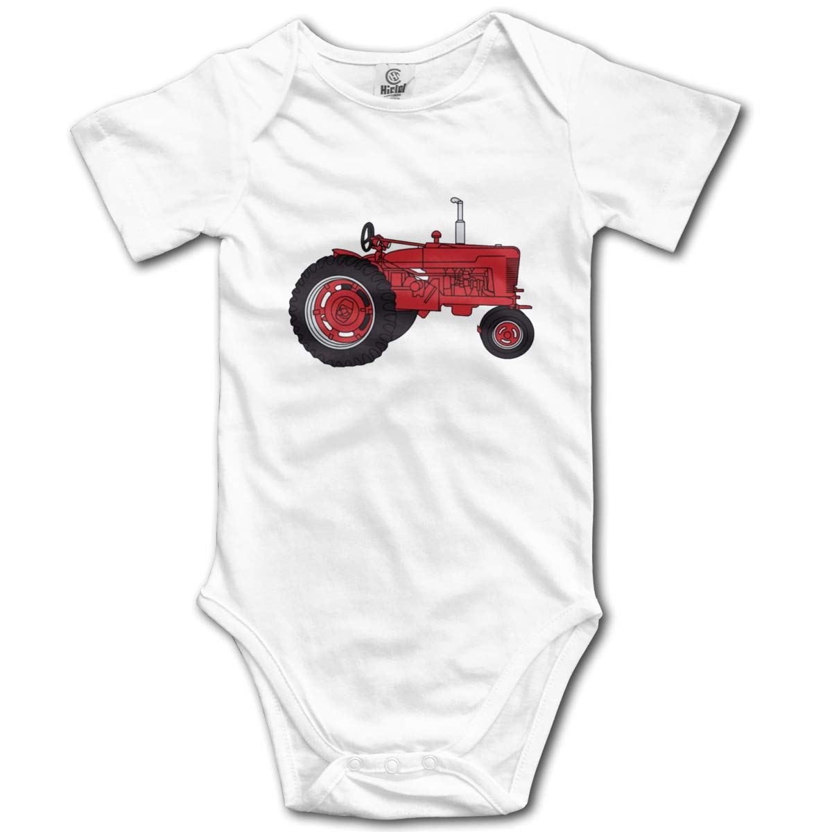 Red Tractor Baby Romper 0-18 Months Newborn Baby Girls Boys Layette Rompers Black