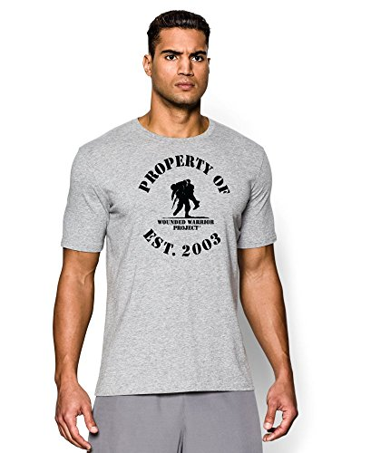 Under Armour Men's WWP Property Of T-Shirt (XX-Large, True Gray Heather/Black)