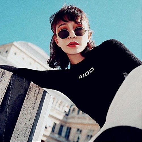 Claros Retro Mujeres de Transparent Gusspower la y D Hombre Metal Unisexo Montura para Vidrios Gafas Gafas Manera Vintage del 187pf