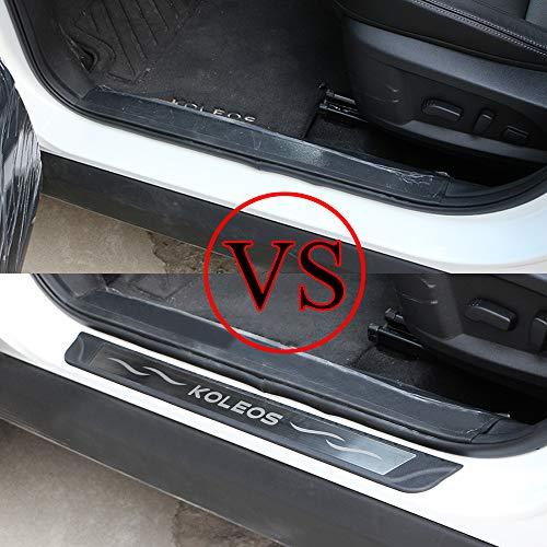 Carmilla 1SET - Protector de Entrada Exterior para Renault Koleos (Acero Inoxidable y Goma)