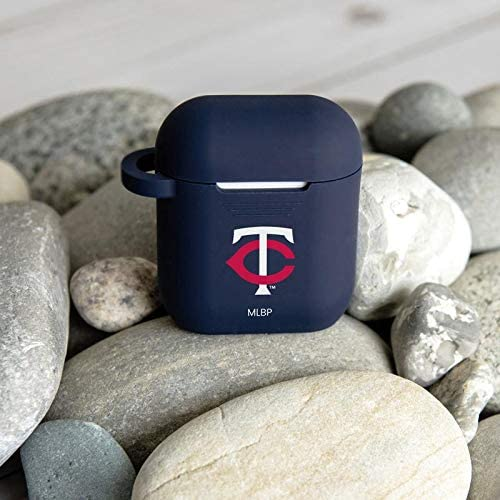 GAME TIME Minnesota Twins Silicone Case Cover for Apple AirPods Battery Case Navy Blue