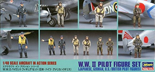 British Wwii Pilot - Hasegawa 1:48 WWII Japanese German US British Pilot Figure Set #36007 #X48-7
