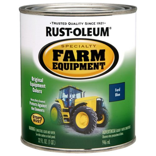 Rust-Oleum 7424502 Specialty Farm Equipment Brush On Paint, Quart, Ford - Equipment Paint