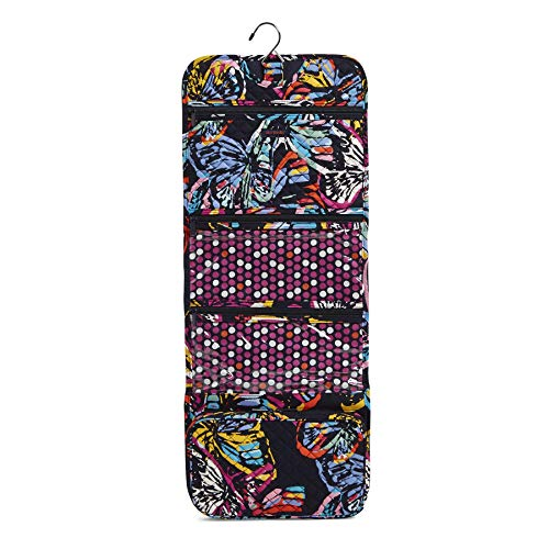 Vera Bradley Iconic Hanging Travel Organizer, Signature Cotton, Butterfly Flutt