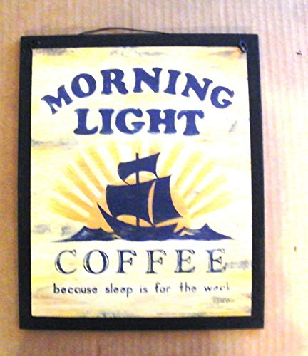 11' Wood Sign - Coffee Sleep IF for The WEAK Primitive Country Kitchen Decor 9x11'', Wood Sign