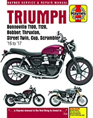 Each Haynes manual provides specific and detailed instructions for performing everything from basic maintenance and troubleshooting to a complete overhaul of the machine, in this case the Triumph 900 & 1200, model years 2016 and 20...