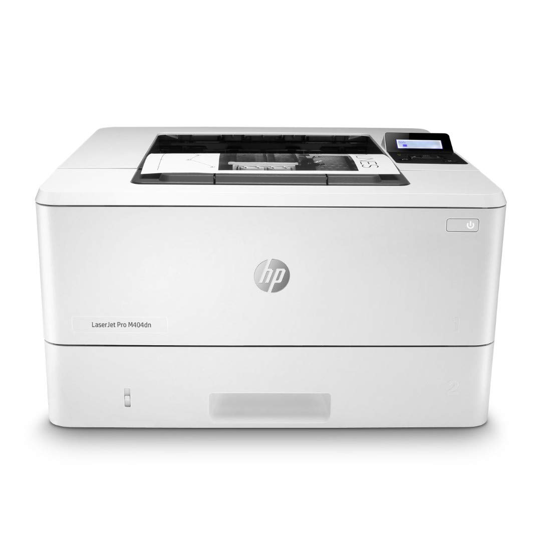 HP LaserJet Pro M404dn Monochrome Laser Printer with Built-In Ethernet & Double-Sided Printing (W1A53A) by HP