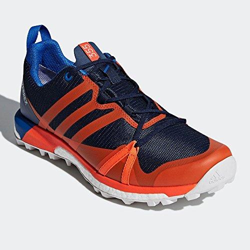 Degli Uomini Di Adidas Terrex Gtx Agravic Da Trekking E Scarpe Da Trekking Basso, Nero, Blu 50,7 Eu (maruni / Naranj / Belazu 000)