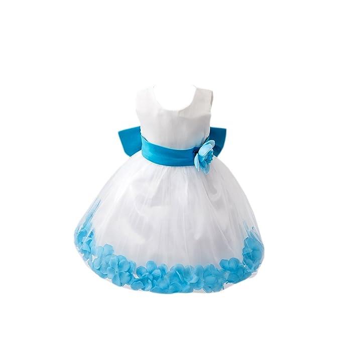 Vlunt niña vestido de novia vestido de princesa de chica vestido de fiesta, color azul
