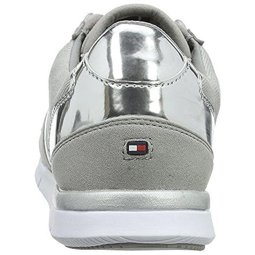 Tommy Hilfiger S1285KYE 1C, Baskets Basses Femme, Gris