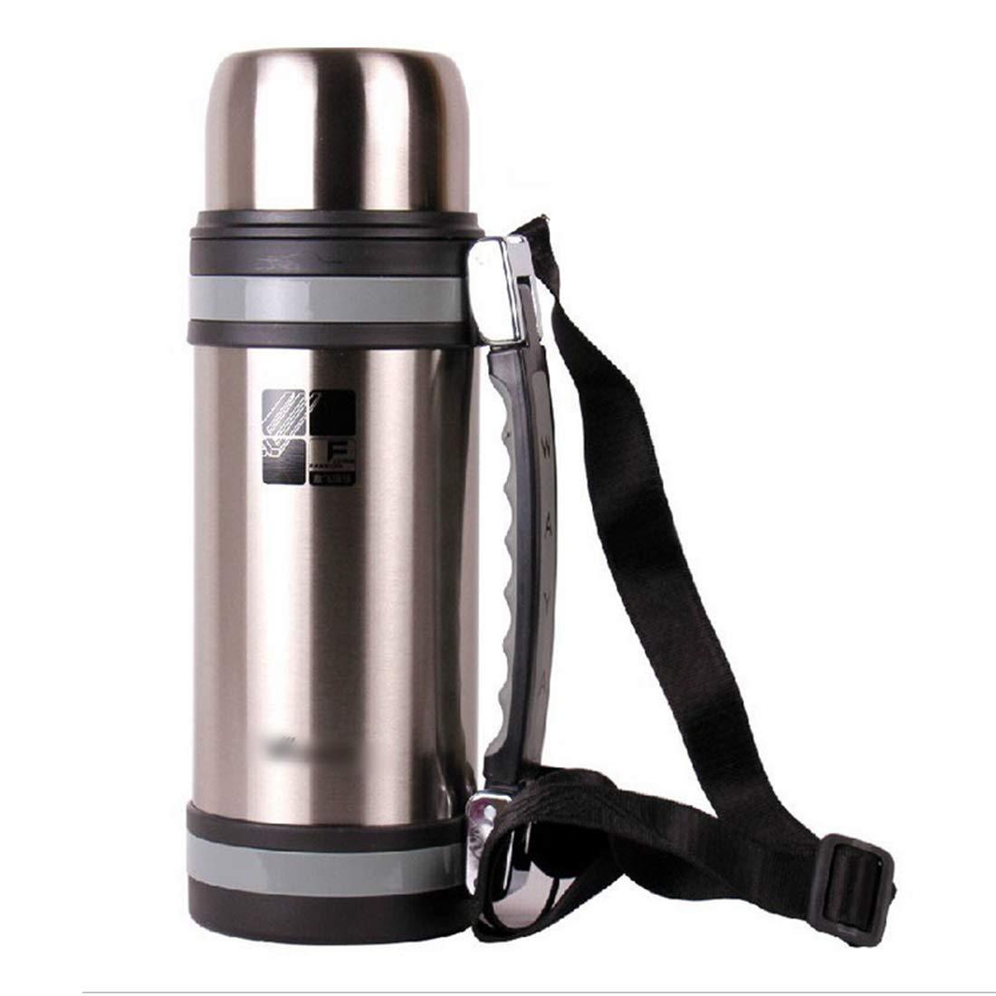 SHIZHESHOP Portable Wasserflasche Edelstahl Vakuum isoliert Thermos Cup für Reisen im Freien