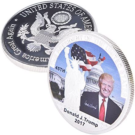American 45th President Donald Trump Silver White House Coin Good Collection CA
