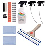 FOSHIO Window Tint Film Installing Tool Set 9 in 1 Include 500ml Sprayer and Spare Nozzles, Window Cleaning Squeegee,Micro fiber Towel Rag, Mini Squeegee, Razor Blade Scraper with Spare Blades