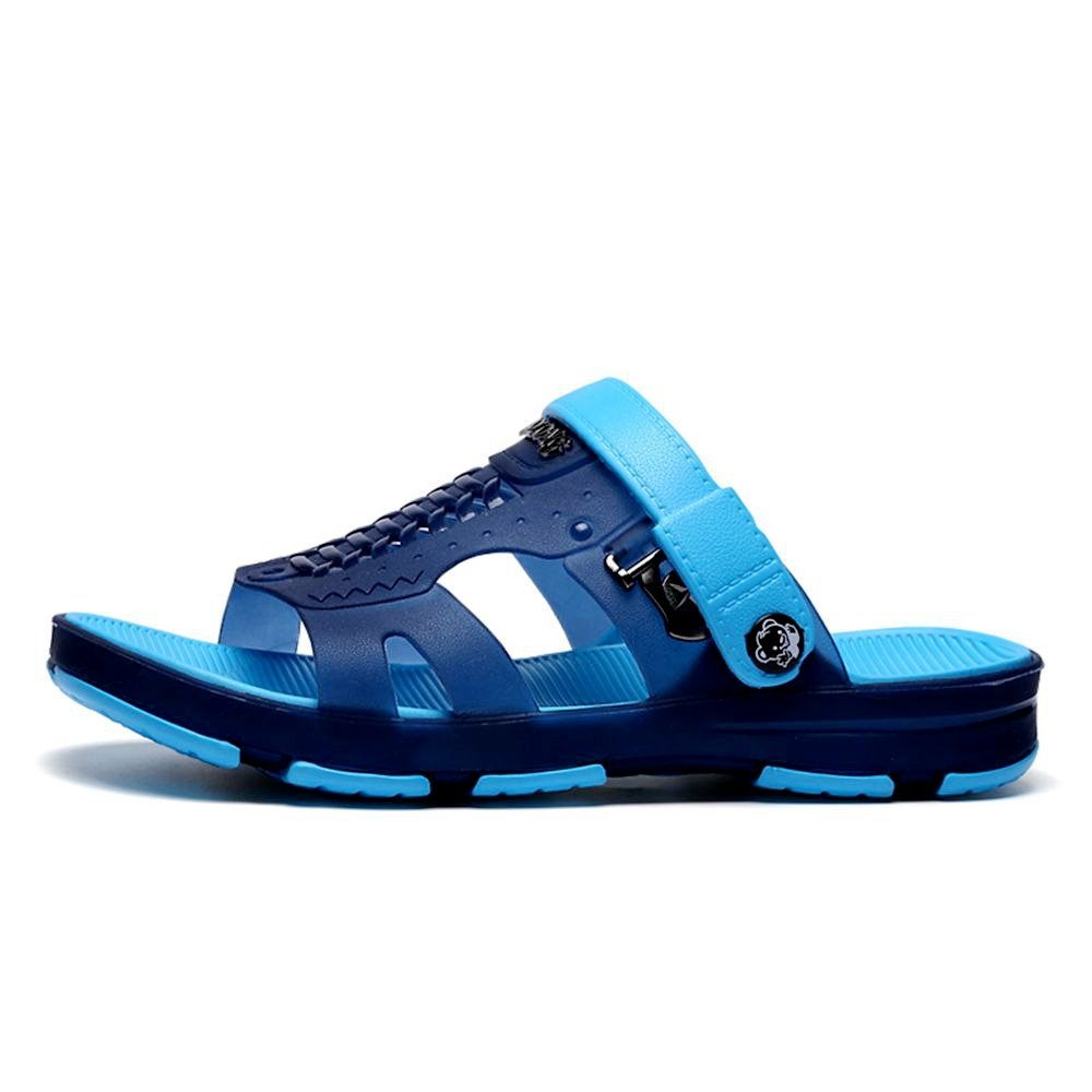 SITAILE Mens Lightweight Water Sandals Slip On Outdoor Beach Slides Indoor Home Casual Slippers by SITAILE (Image #1)