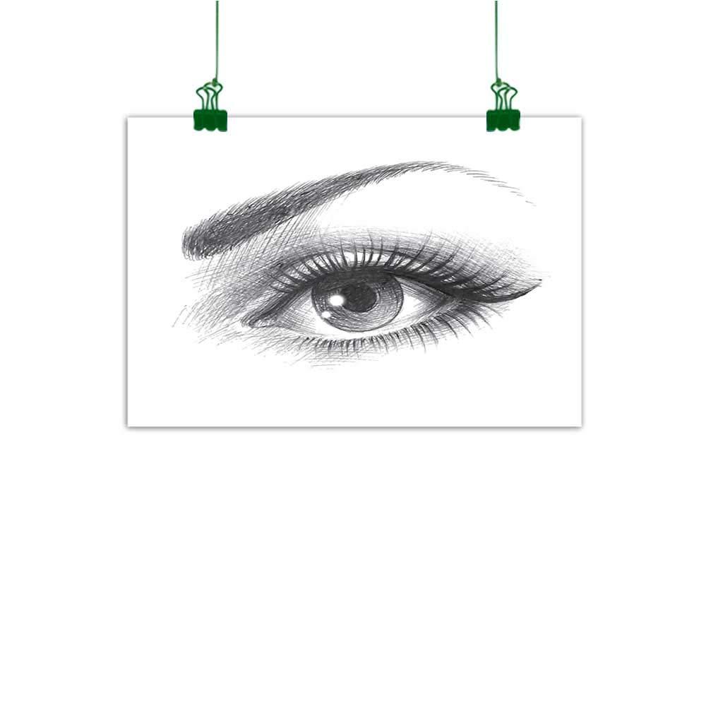 Amazon com j chief sky wall art decor eye pencil drawing artwork