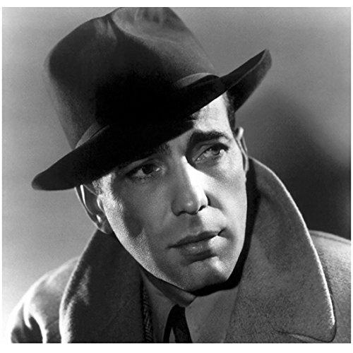 Casablanca 8x10 Photo Humphrey Bogart Head Shot in Hat Looking Soulful kn