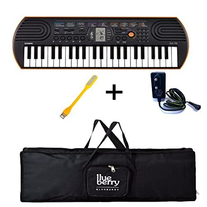 c8526196c Casio SA-76 Mini Keyboard-44 Keys with Adapter   Blueberry Cover Bag ...