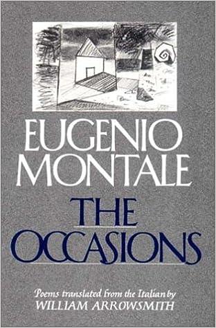 Amazon Fr The Occasions Eugenio Montale William