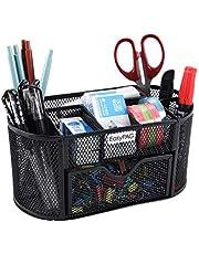 EasyPAG Mesh Desk Organizer 9 Components Desktop Supply Caddy with Drawer