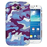 Heartly Army Style Retro Color Armor Hybrid Hard Bumper Back Case Cover For Samsung Galaxy Grand Duos I9082 / Galaxy Grand Neo GT-I9060 / Galaxy Grand Neo Plus I9060I - Navy Blue
