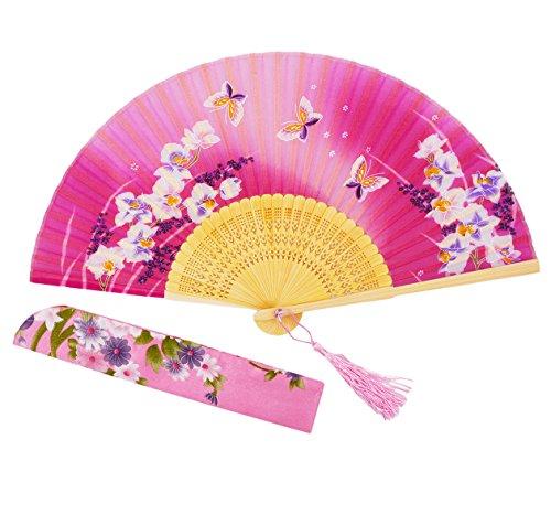 Amajiji 8.27 Women Folding Fan Hand Fan,Chinease/Japanese Vintage Retro Style NQE (HQJ-23)