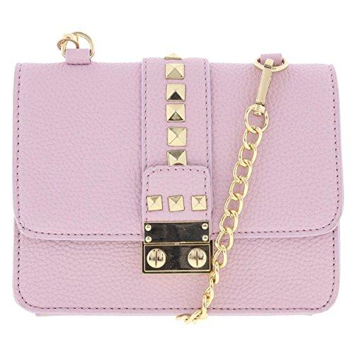3d239d0f0e BCBG Paris Womens Caviar Faux Leather Mini Crossbody Handbag Purple Small -  Buy Online in Oman.