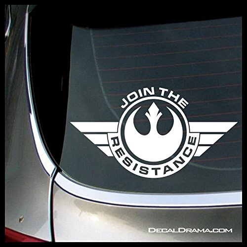 JOIN THE RESISTANCE badge SMALL Vinyl Decal | Star Wars Skywalker Vader Jedi Force Rebel Alliance Galactic Empire | Cars Trucks Vans Laptops Windows Cups Tumblers Mugs | Made in the USA