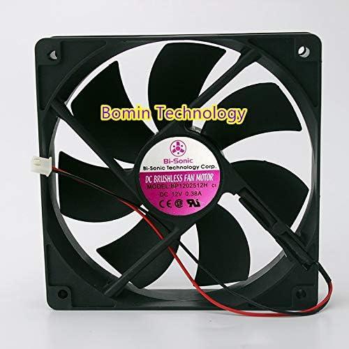 Bomin Technology for Bi-Sonic BP1202512H 12V 0.38A 12CM Chassis Fan