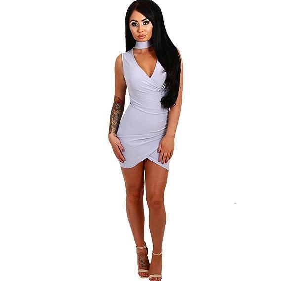 vestidos de fiesta cortos Switchali moda vestidos verano mujer diariamente Sin mangas Mini vestido de novia vintage casual de las mujeres de senora ...